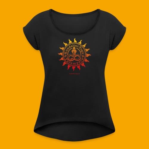KUNDALINI-YOGA-PARAMPARA SUN - Frauen T-Shirt mit gerollten Ärmeln