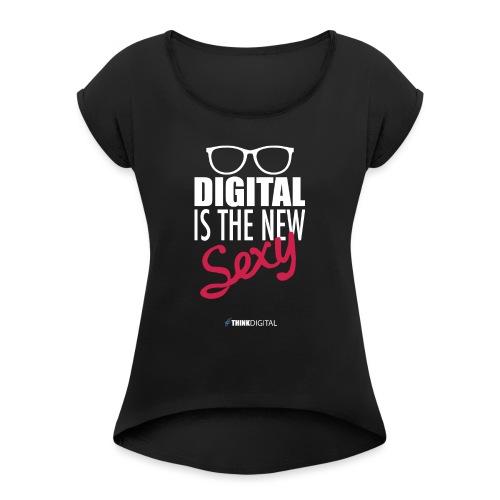 DIGITAL is the New Sexy - Lady - Maglietta da donna con risvolti