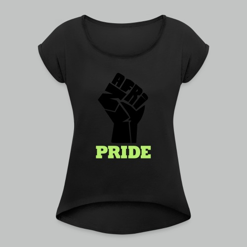 nafri fist - pride - Frauen T-Shirt mit gerollten Ärmeln