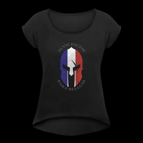 casque spartan si vis pacem02 - T-shirt à manches retroussées Femme