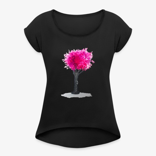 Tree - Women's T-Shirt with rolled up sleeves