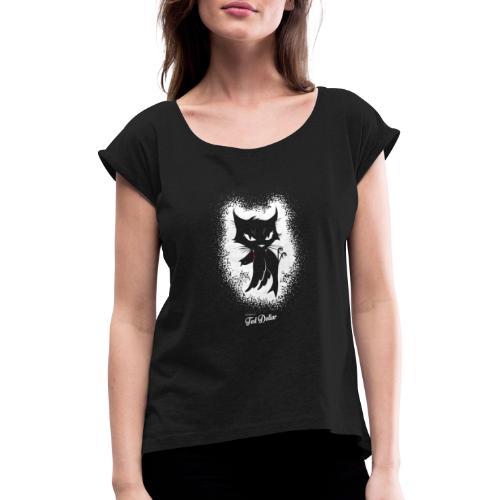 Dirty Little Pussy - T-shirt à manches retroussées Femme