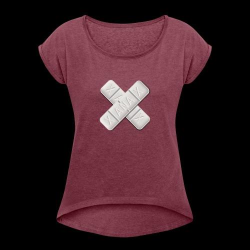 Xanax X Logo - Frauen T-Shirt mit gerollten Ärmeln