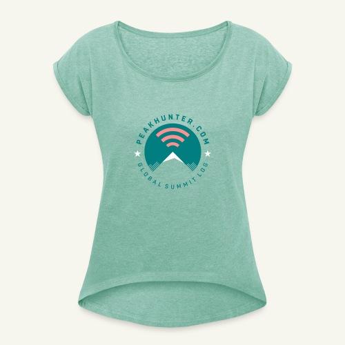 Peakhunter Global Summit Log - Frauen T-Shirt mit gerollten Ärmeln