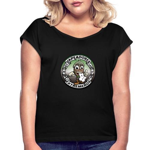 Logo Original - Camiseta con manga enrollada mujer