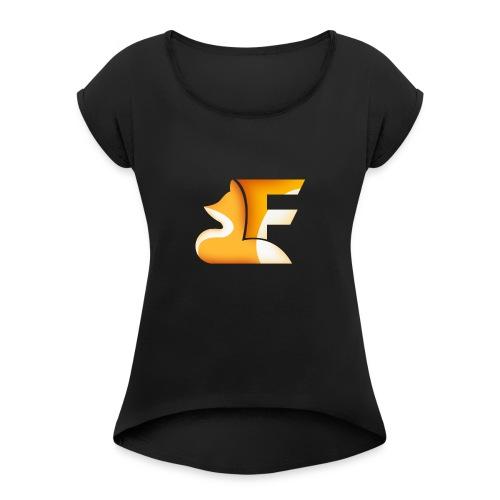 Logo senza sfondo FRONTE - Maglietta da donna con risvolti