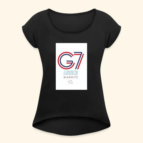 G-Cétacé - T-shirt à manches retroussées Femme