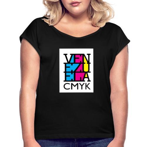 Venezuela CMYK - Camiseta con manga enrollada mujer