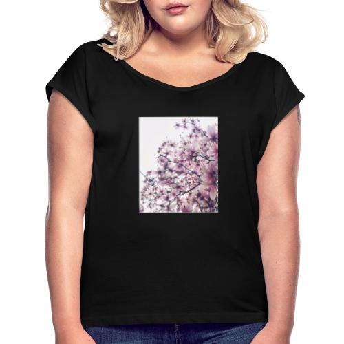 magnolia - Maglietta da donna con risvolti
