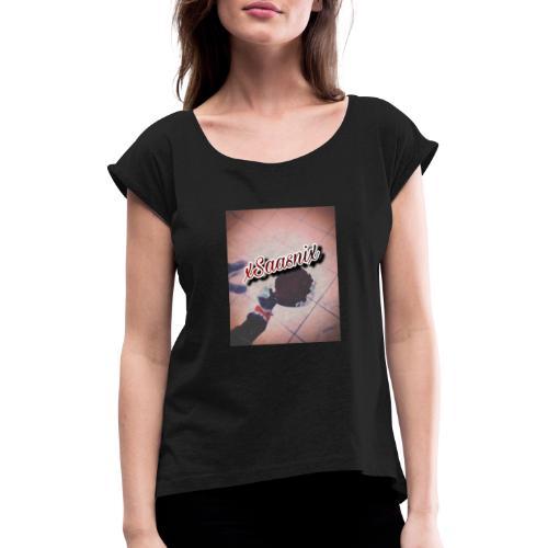 xSaasnix - Frauen T-Shirt mit gerollten Ärmeln