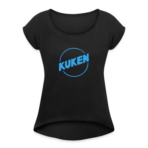 Kuken - T-shirt med upprullade ärmar dam