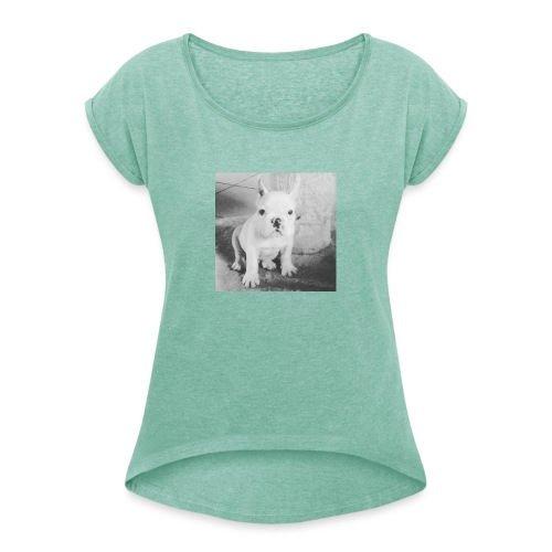 Billy Puppy - Vrouwen T-shirt met opgerolde mouwen