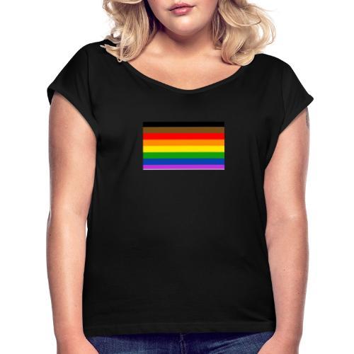 the parky lgbt shirt - T-shirt à manches retroussées Femme