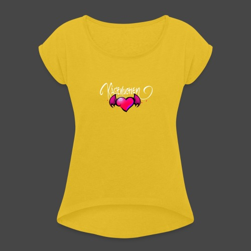 Logo and name - Women's T-Shirt with rolled up sleeves