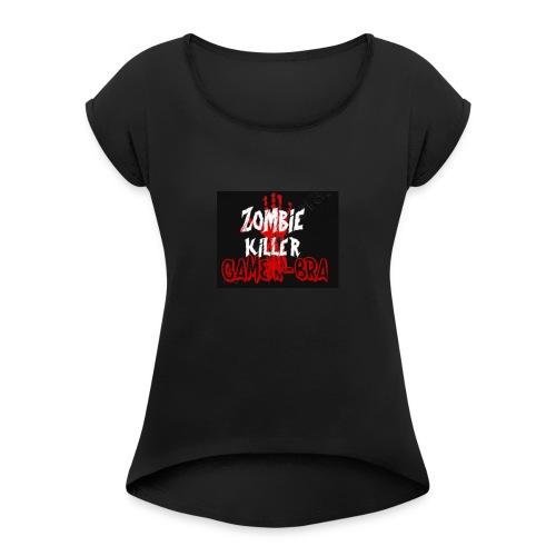 KILLER - Frauen T-Shirt mit gerollten Ärmeln