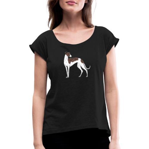 Greyhound - Frauen T-Shirt mit gerollten Ärmeln