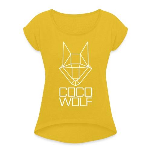 COCO WOLF - Frauen T-Shirt mit gerollten Ärmeln