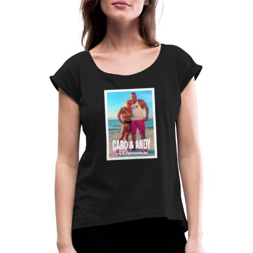 caro andy 01 - Camiseta con manga enrollada mujer
