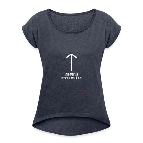 insoumisHyperboréen - T-shirt à manches retroussées Femme