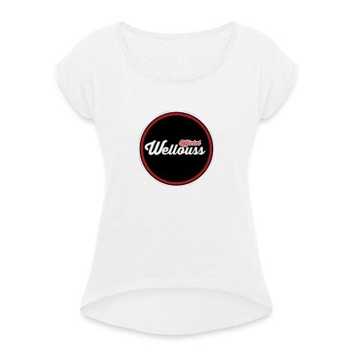 Wellouss Fan T-shirt | Rood - Vrouwen T-shirt met opgerolde mouwen