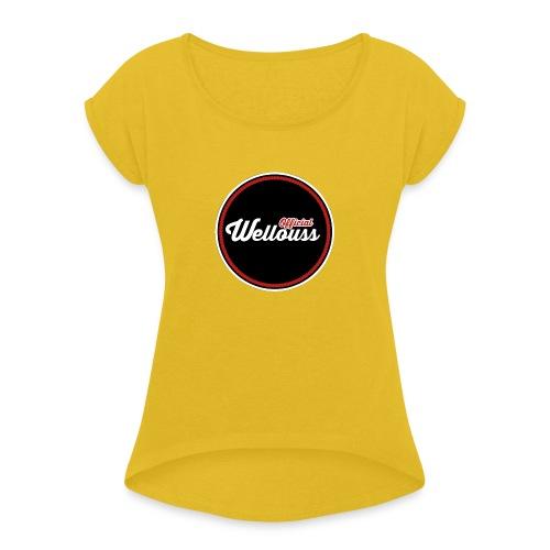 Wellouss Fan T-shirt   Rood - Vrouwen T-shirt met opgerolde mouwen