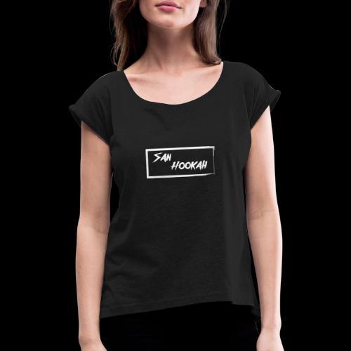 Design 1 - Frauen T-Shirt mit gerollten Ärmeln