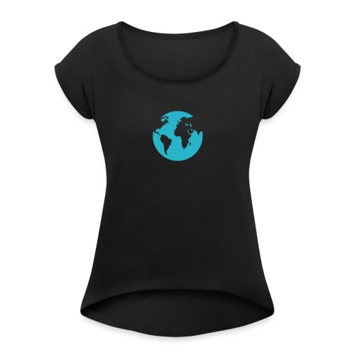 Blue Planet Earth - Women's T-Shirt with rolled up sleeves
