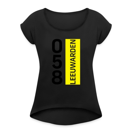 058 - Women's T-Shirt with rolled up sleeves
