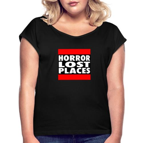 Horror Lost Places - Frauen T-Shirt mit gerollten Ärmeln