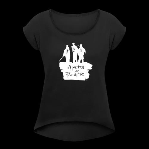 logo apache blanc - T-shirt à manches retroussées Femme