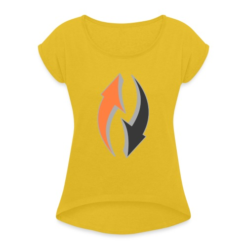 arrows (Saw) - Women's T-Shirt with rolled up sleeves