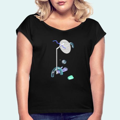 Play - Dame T-shirt med rulleærmer