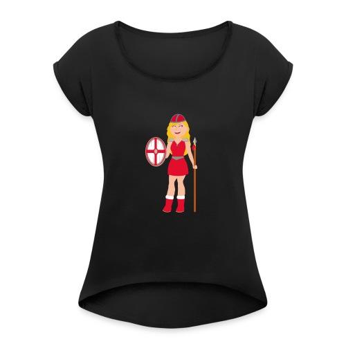 Daenemark - Frauen T-Shirt mit gerollten Ärmeln