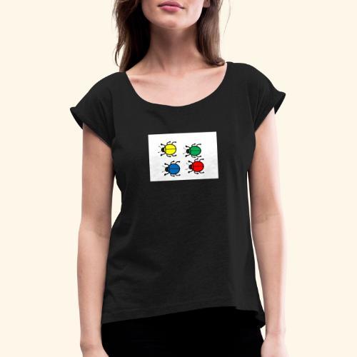 Beetle Lucia - T-skjorte med rulleermer for kvinner