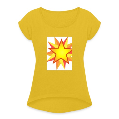 ck star merch - Women's T-Shirt with rolled up sleeves