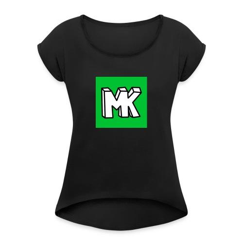 MK - Vrouwen T-shirt met opgerolde mouwen