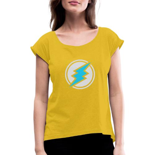 ETN logo # 2 - Women's T-Shirt with rolled up sleeves