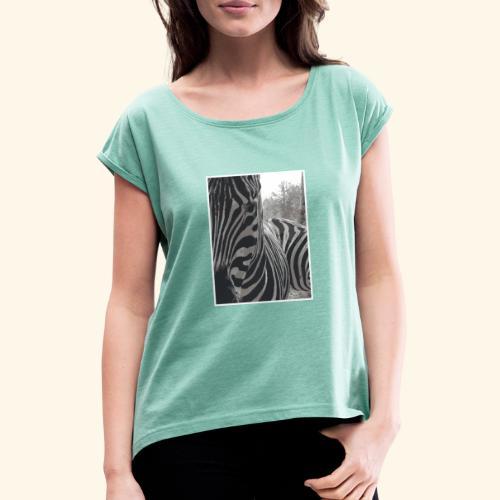 Zebrack&White - T-shirt à manches retroussées Femme