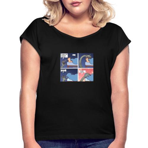Türk - Frauen T-Shirt mit gerollten Ärmeln