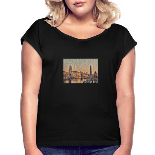 Vue sur le pont - T-shirt à manches retroussées Femme