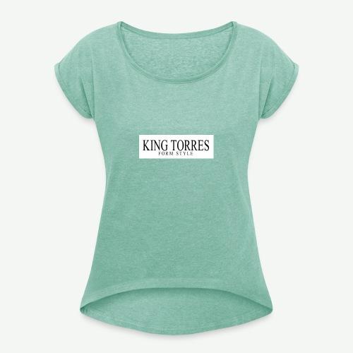 king torres - Camiseta con manga enrollada mujer