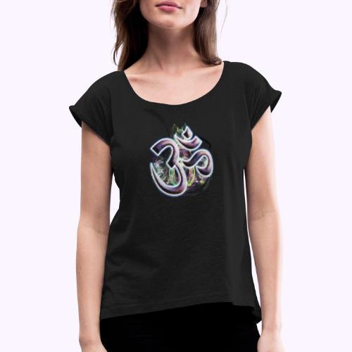 Fractal Om - Camiseta con manga enrollada mujer