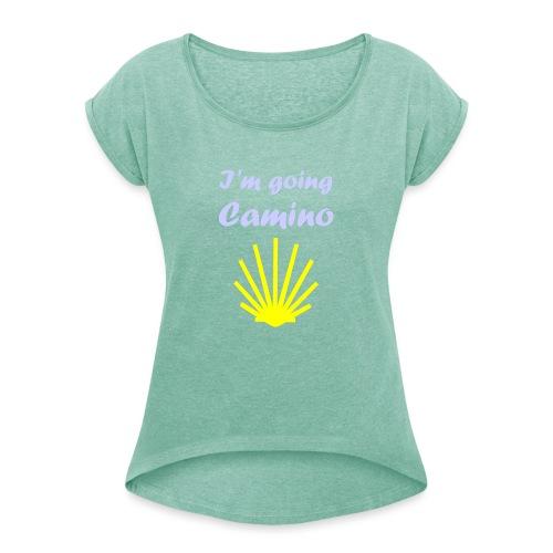 Going Camino - Dame T-shirt med rulleærmer