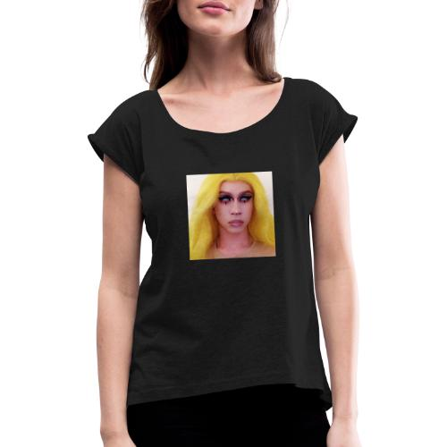 Glazed Eyes - Women's T-Shirt with rolled up sleeves
