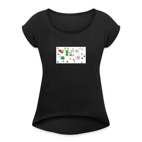 Geometric Figures - Camiseta con manga enrollada mujer