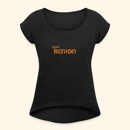 Bejby by benton - T-shirt med upprullade ärmar dam