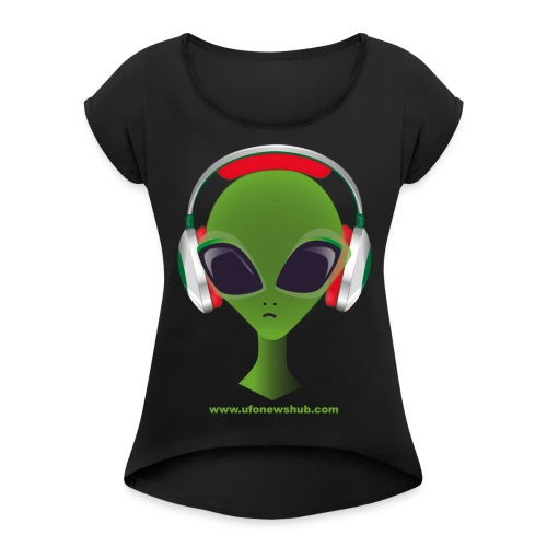 alienheadtshirt - Women's T-Shirt with rolled up sleeves