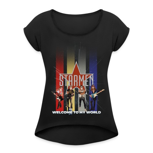 Starmen - Colors - Women's T-Shirt with rolled up sleeves