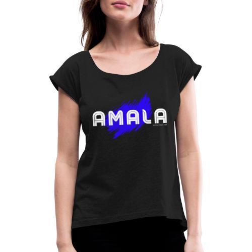 Amala, pazza inter (nera) - Maglietta da donna con risvolti