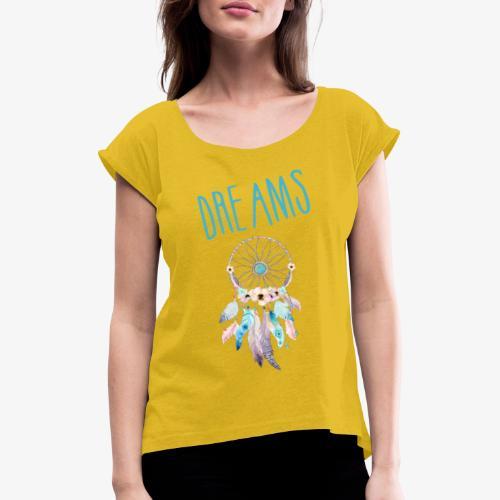 Dreams - Maglietta da donna con risvolti